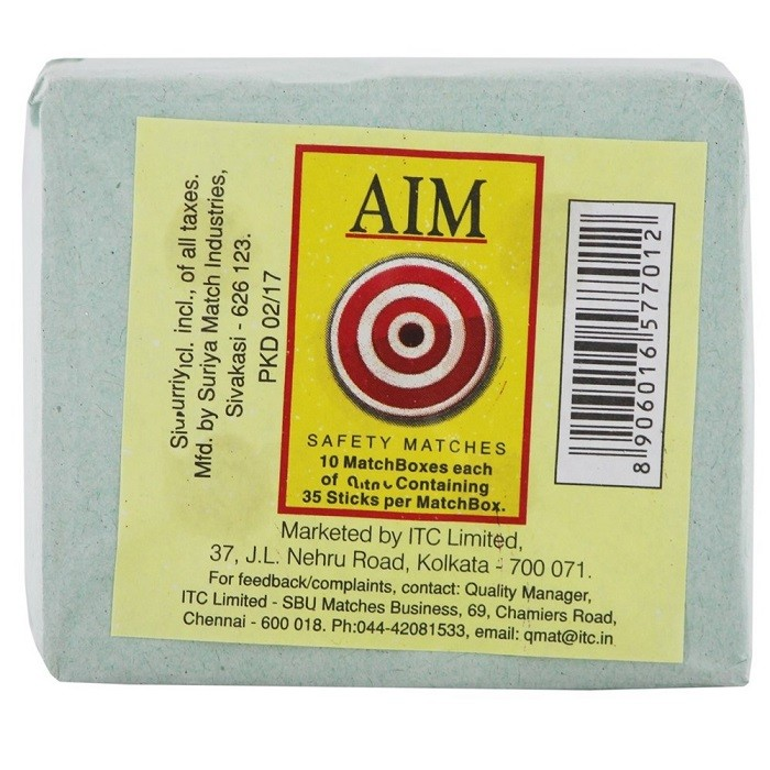 Aim Match Box 10 Pcs | Bengkart