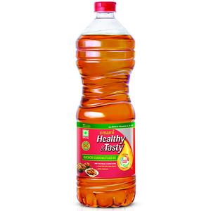 Emami Healthy & Tasty  Kachchi Ghani Mustard Oil (Bottle) 1 Ltr