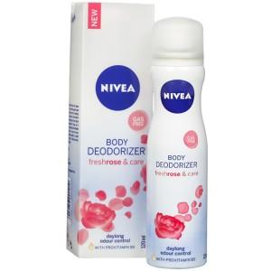 Nivea Freshrose & Care Body Deodorizer For Women 120 ml