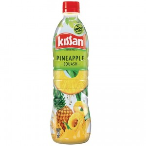 Kissan Pineapple Squash 750 ml Made With 100% Real Fruit