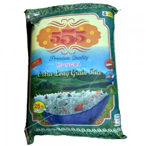 555 Mongra Rice Premium Quality Extra Long Grain Rice 25 Kg