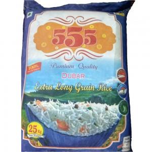 555 Dubar Rice Premium Quality Extra Long Grain Rice 25 Kg