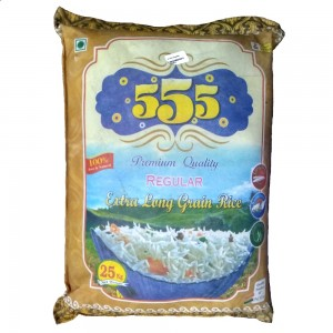 555 Regular Rice Premium Quality (Extra Long Grain Rice) 25 Kg