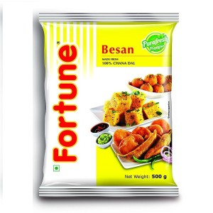 Fortune Besan 500 gm Pouch Made From 100% Chana Dal