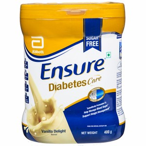 Ensure Diabetes Care Vanilla Jar Powder 400 gm Sugar Free