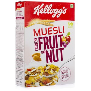 Kelloggs Muesli Crunchy Fruit and Nut Corn Flakes 500 gm