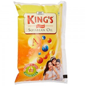 Kings Refined Soya Bean Oil 1 Ltr Pouch