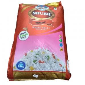 Shubh Tibar White Sella Basmati Rice 25 Kg